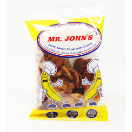 MR JOHN'S RIPE/SPICY PLANTAIN CHIPS
